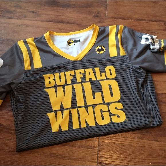 Buffalo Wild Wings Tops Server Jersey Gray Gold Poshmark