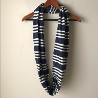 Blue and white striped infinity scarf OS from Chic ...