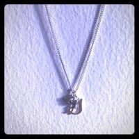 50% off Disney Jewelry - Disney Necklace- Silver Initial ...