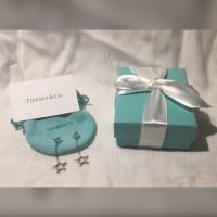 Tiffany & Co. - Auth Tiffany 925 Dangle Drop Star Earrings ...
