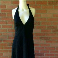 J. Crew - J. Crew Sundress Black Tie Neck Zip Back Halter ...
