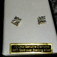 70% off Jewelry - Brand New .10K Diamond Earrings 18K Gold ...