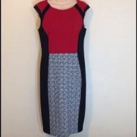 Enfocus Studio Dresses | Red Black White Cap Sleeve Dress ...