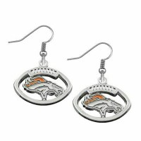 Denver Broncos Earrings- Silver Bronco Earrings from ...