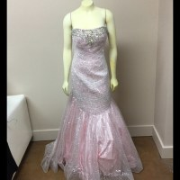 49% off Tony Bowls Dresses & Skirts - Pink & Silver Fit n ...