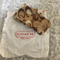 Coach - Coach brown and cream purse scarf w/dustbag from ...