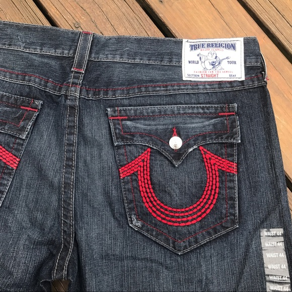 True Religion Jeans Straight Fit With Red Stitch Poshmark