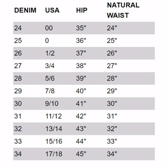Miss Me Jeans Denim Size Guide Poshmark