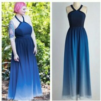 Modcloth Dresses | Special Occasion Blue Ombre Dress ...