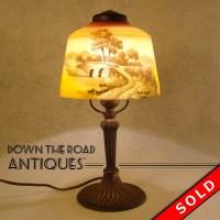 Pittsburgh Reverse Painted Boudoir Lamp