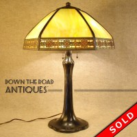 Handel Panel Lamp, Arts & Crafts | DTR Antiques