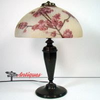 Pittsburgh Electric Table Lamp with Reverse-Painted | DTR ...