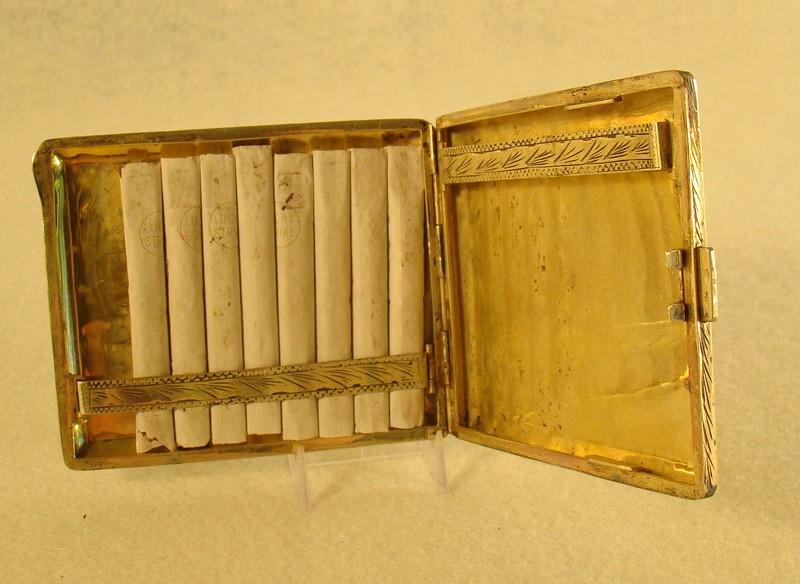 Silver Enameled Cigarette Holder Dtr Antiques