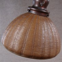 Handel Bronze Floor Lamp with Basket Weave Shade