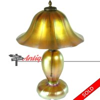 Steuben Aurene Iridescent Electric Table Lamp
