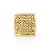 Mens Diamond Earrings:Yellow Diamonds Stud Earring