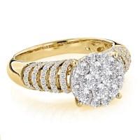 Unique Engagement Rings: Ladies Diamond Ring 1.28ct 14K Gold