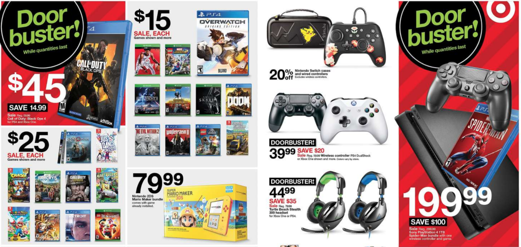 Www Black Friday Target S Black Friday Deals Revealed Features Spider Man Ps4