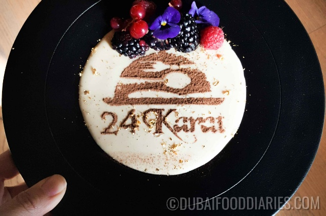 24K tiramisu at 24 Karat Restaurant, Marriott al Jaddaf, Oud Metha, Dubai