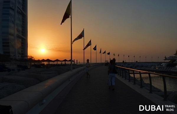 dubai sunset at jumeirah beach hotel