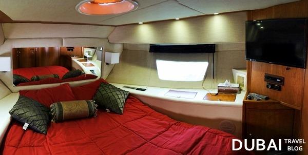 luxury yacht master bedroom dubai