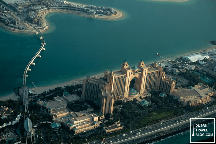 atlantis the palm aerial shot