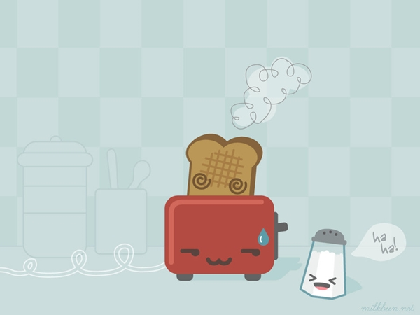 Cute Wallpapers Toast Fonds D 233 Cran Kawaii Mignon