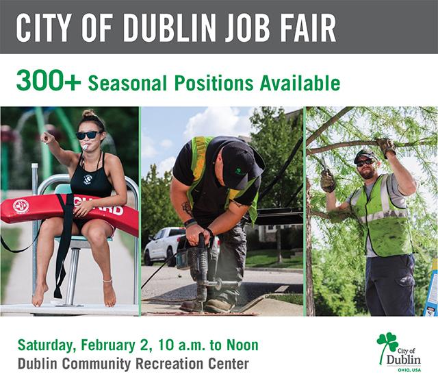 Dublin, Ohio, USA » City of Dublin Job Fair \u2013 February 2