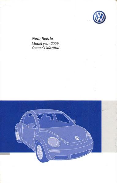 2009 Volkswagen Beetle Owners Manual in PDF