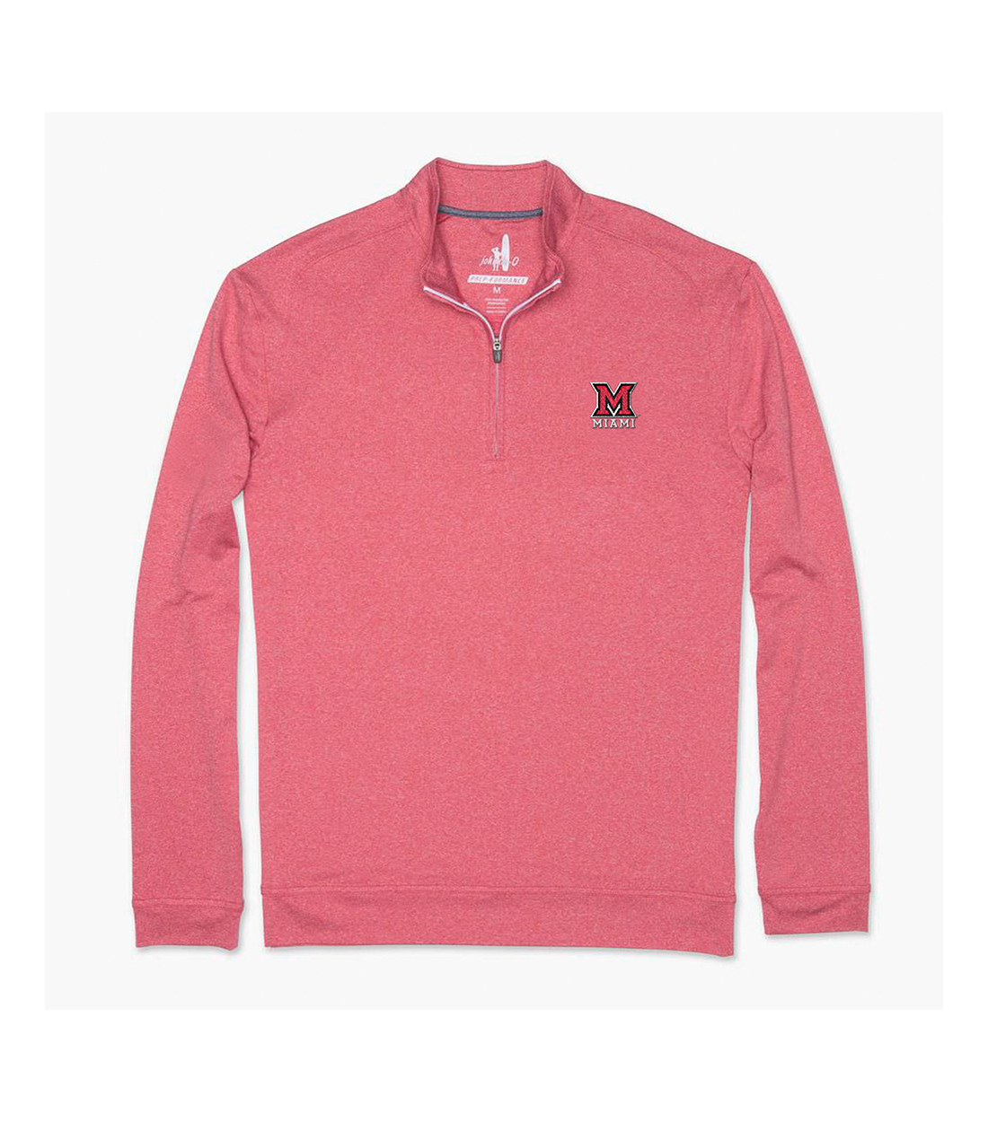 O Miami Johnnie O Miami University Heather Red Quarter Zip Dubois Book