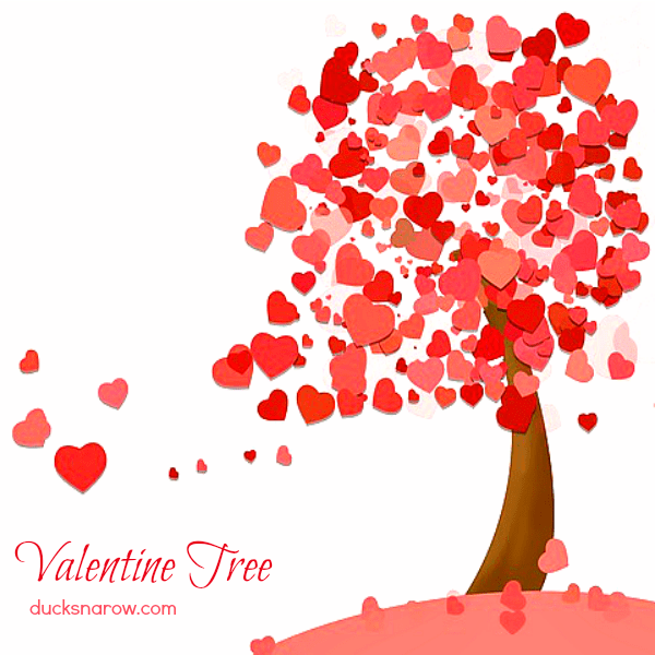 Keep that Christmas Tree up longer - make it a Valentine Tree! #tips