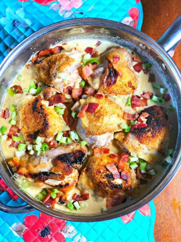 Bacon Chicken Skillet recipe from Lou Lou Girls