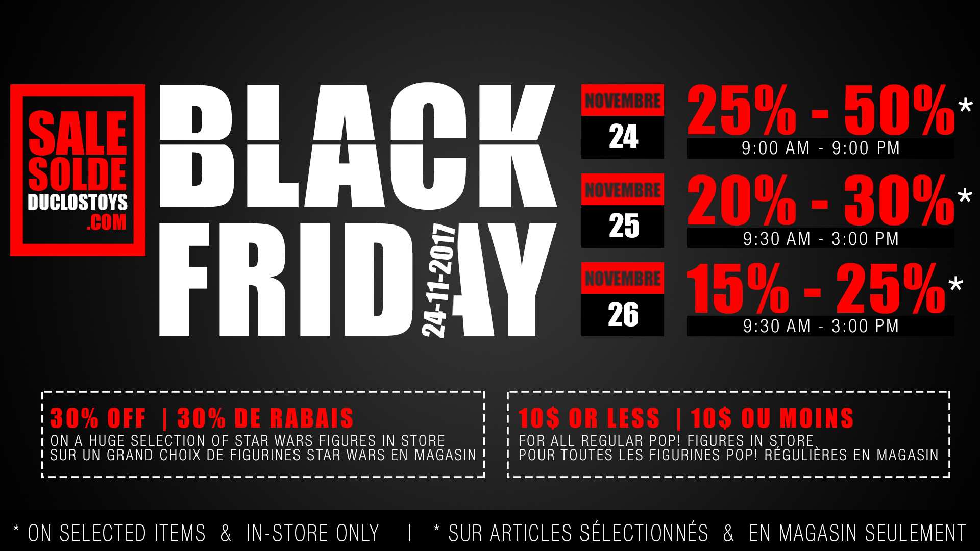 Store A Rabais Duclos Jouets Black Friday 2017 Special Offers Announcement