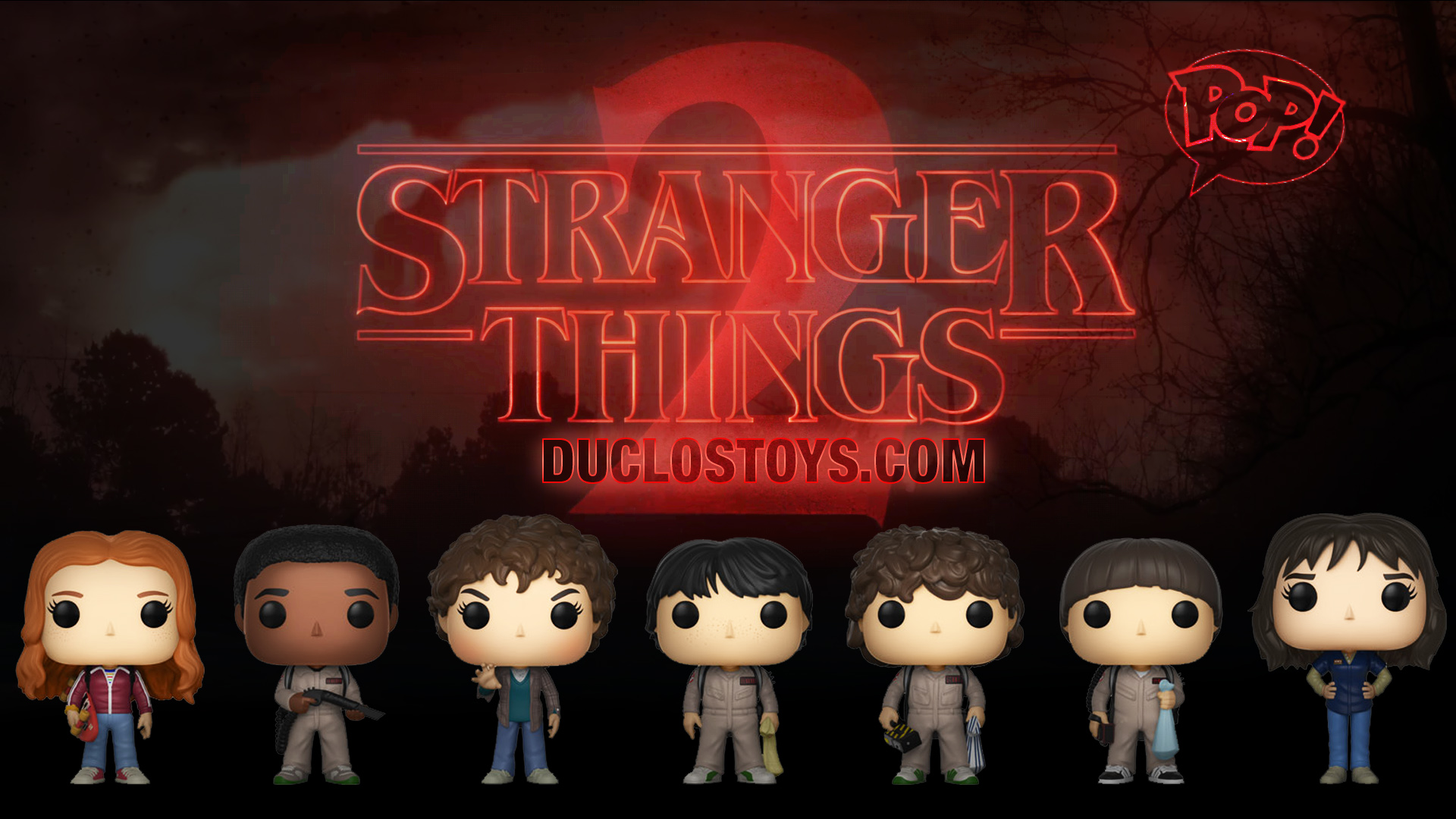 Stranger Things Wallpaper Cute Duclos Toys Action Figures Collectibles Geek Toys