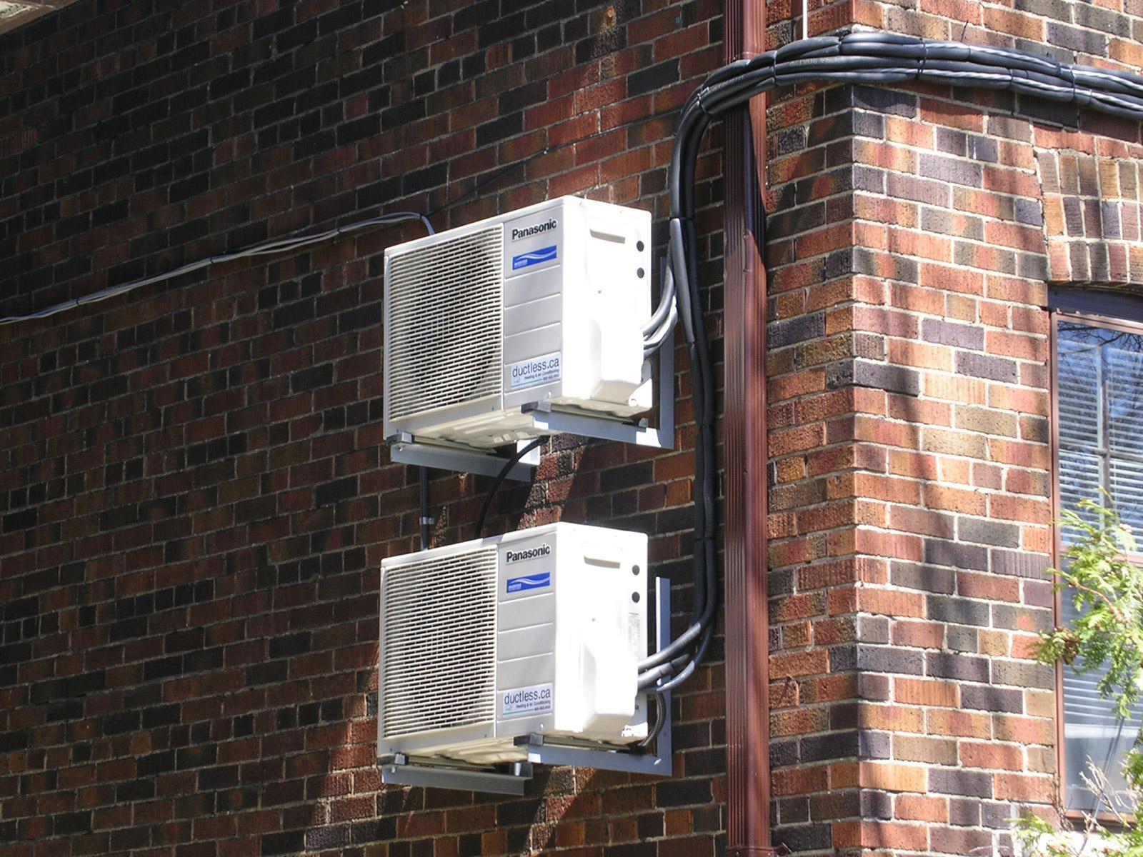 Ductless Air Conditioner Heat Pump Installation In