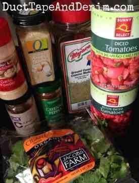 Ingredients for homemade salsa   DuctTapeAndDenim.com