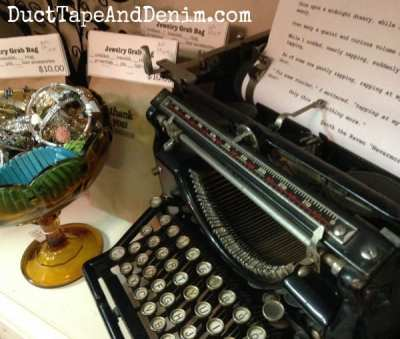Vintage typewriter at Room With a Past | DuctTapeAndDenim.com
