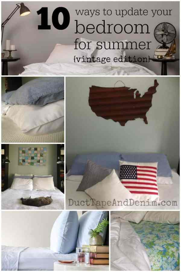 10 easy ways to update your bedroom for summer for Duct tape bedroom ideas