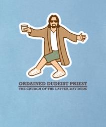 ordained dudeist priest dancing