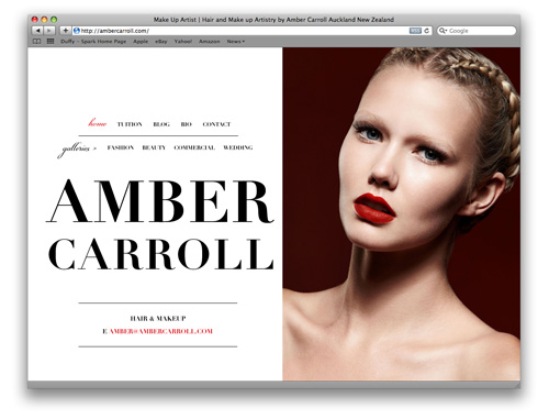 Portfolio Website Design - Amber Carroll Makeup Artist » Duffy