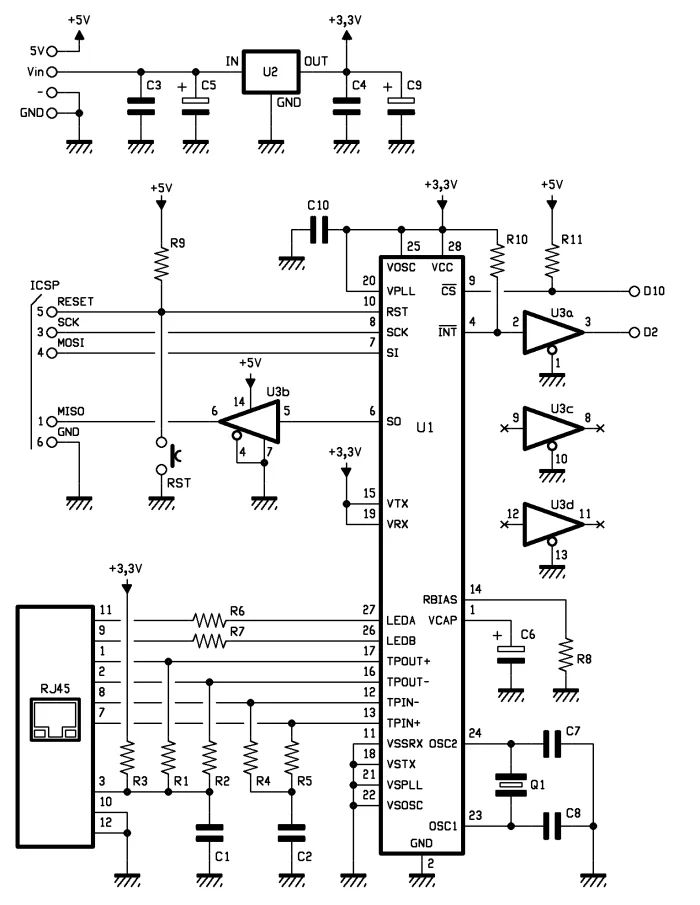 ethernet schematic circuit