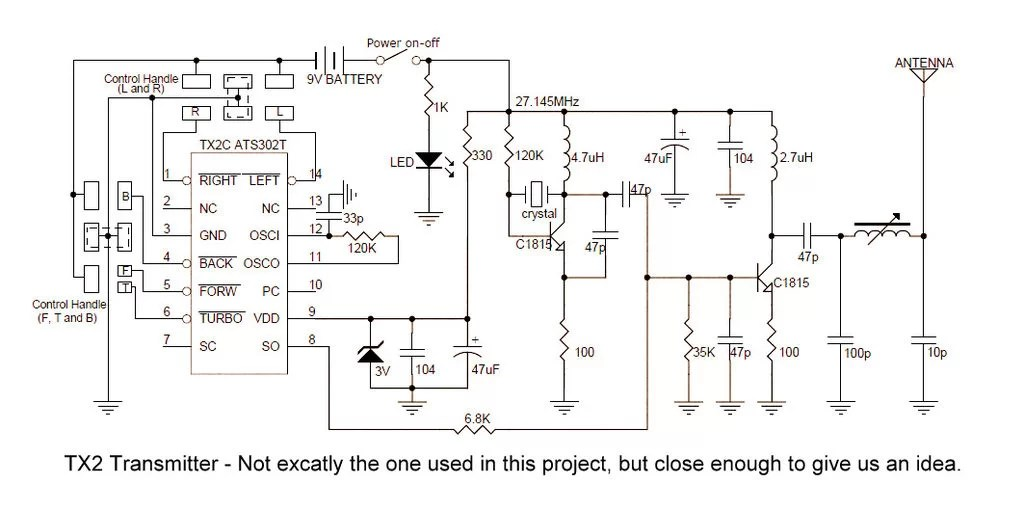 Rc Transmitter Circuit Control Cables  Wiring Diagram
