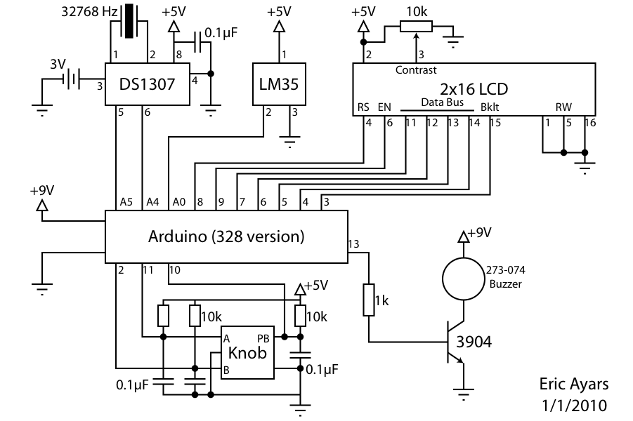 radio alarm clock schematic