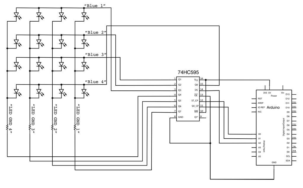 possible led matrix circuit
