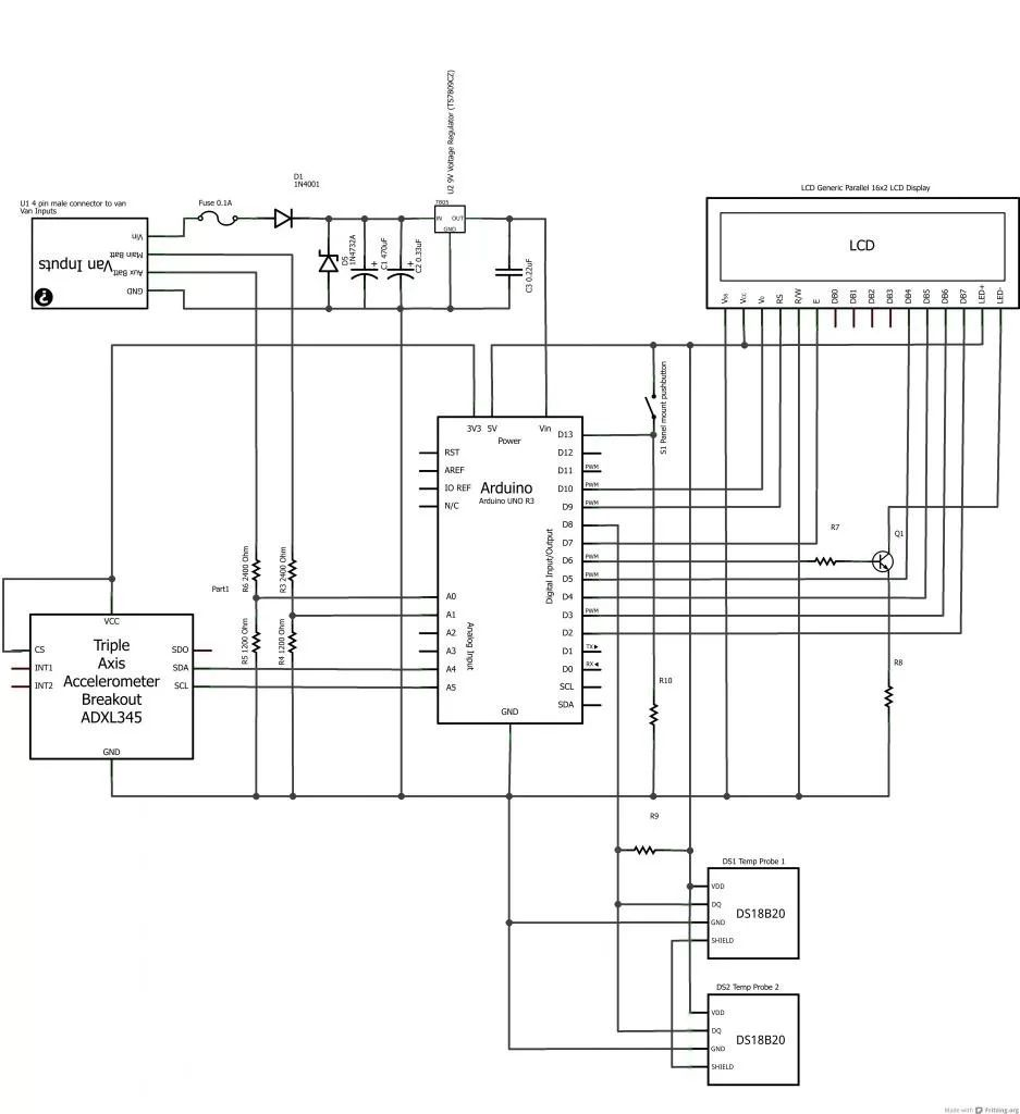 lcd screen wire diagram