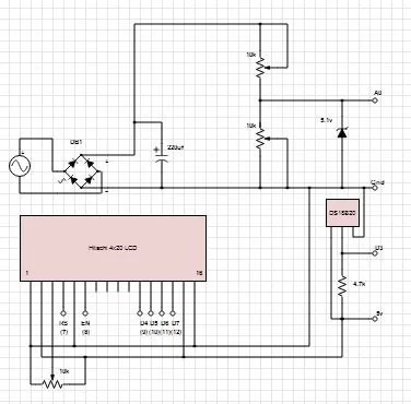 Digital Arduino Voltmeter with Temperature -Use Arduino for Projects