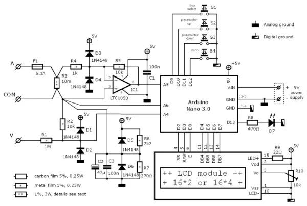power factor meter circuit diagram ac power measurement meter