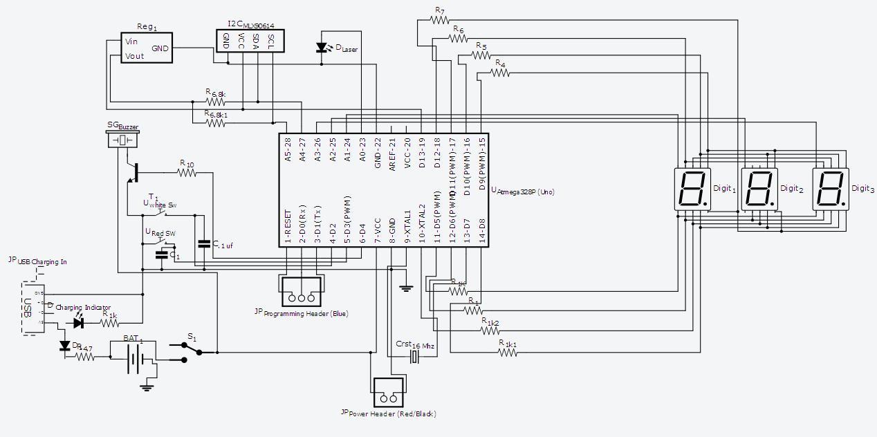 circuit lakearduino based infrared thermometer mlx90614