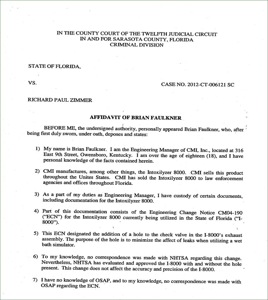 Affidavit Of Incident Sample Letter – Sample Sworn Affidavit
