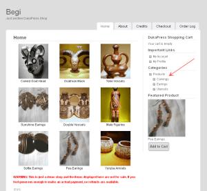 Begi WordPress e-Commerce Theme